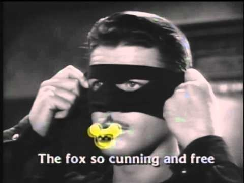 """Theme Song for Disney's """"Zorro"""" TV series. Did't you love the old TV show Theme Songs?"""