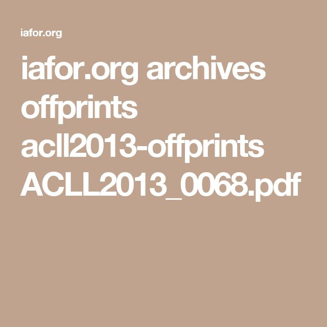 iafor.org archives offprints acll2013-offprints ACLL2013_0068.pdf