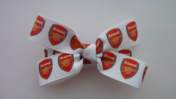 Arsenal football club hair bow by Youaresocute on Etsy