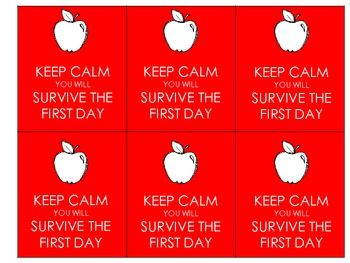 Back to School Staff Gift Tags {Keep Calm}