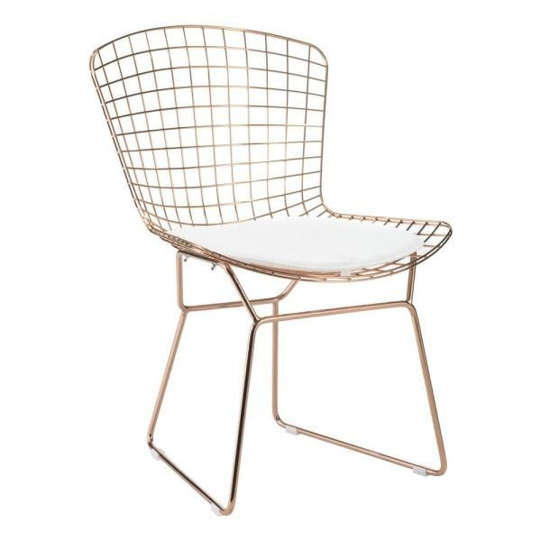Zuo White Mesh Wire Outdoor Chair Cushion 188005 Chairs