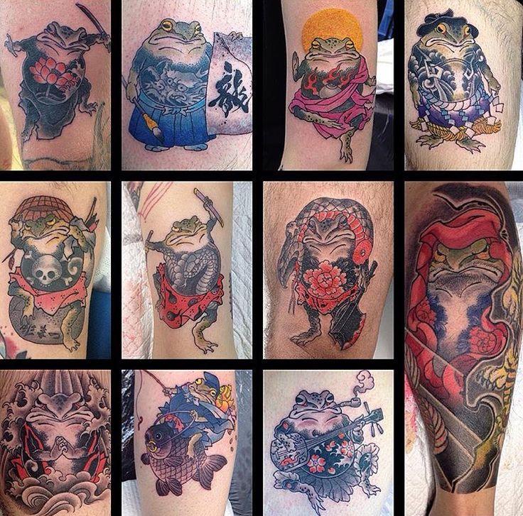 Japanese Frog Tattoo done by Makoto Horimatsu #sunsettattoonz www.sunsettattoo.co.nz