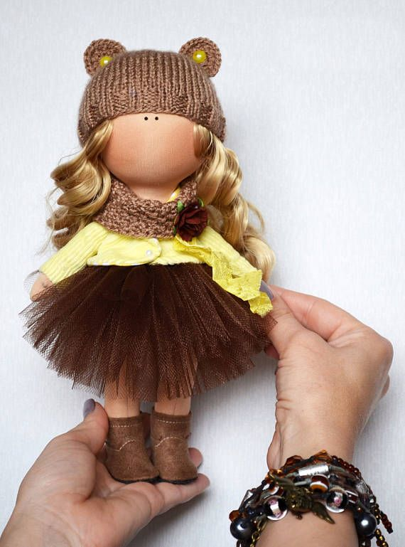 Art doll Poupée Handmade doll Rag doll Fabric doll Tilda doll