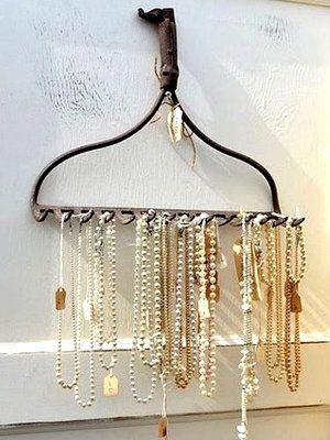 Shabby chic necklace organizer. diy