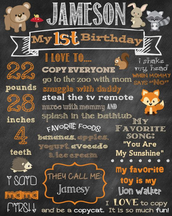 Welcome to Chalking It Up Boards! This is an adorable birthday chalkboard for your animal loving child!    This listing is for a digital file