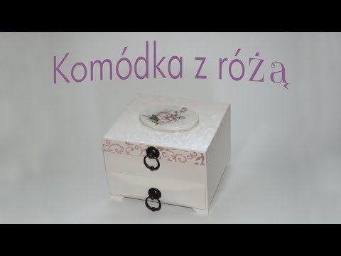 Decoupage krok po kroku - komódka z różą - poradnik - YouTube