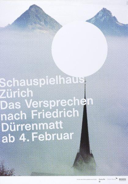 Schauspielhaus Zürich - Das Versprechen nach Friedrich Dürrenmatt - ab 4. Februar-Plakat