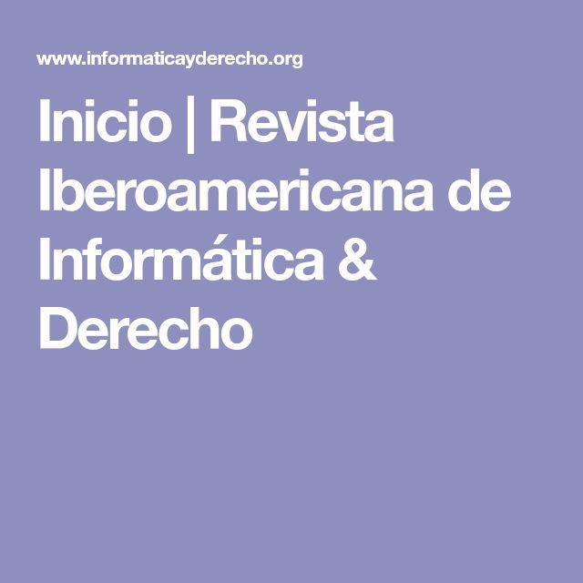 Inicio | Revista Iberoamericana de Informática & Derecho