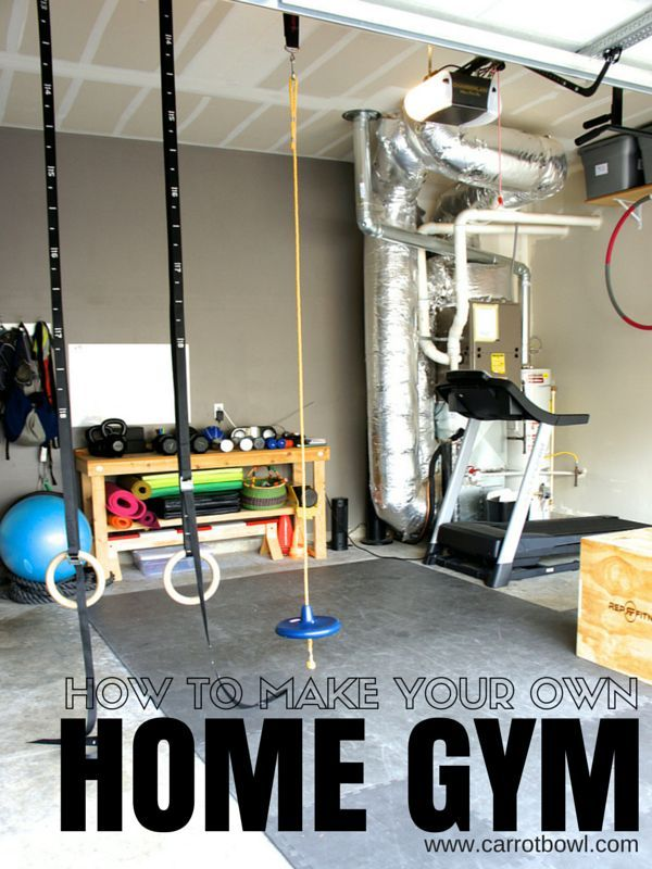 How to make a home gym garage and carrots