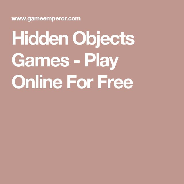 Hidden Objects Games - Play Online For Free