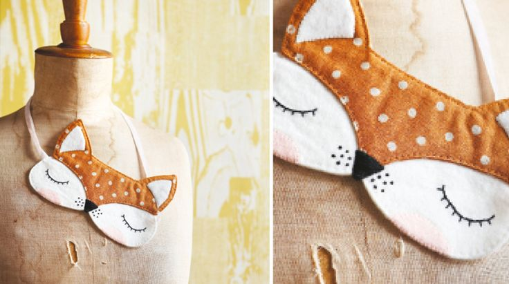 How to make… An Easy-Sew Foxy Sleep Mask