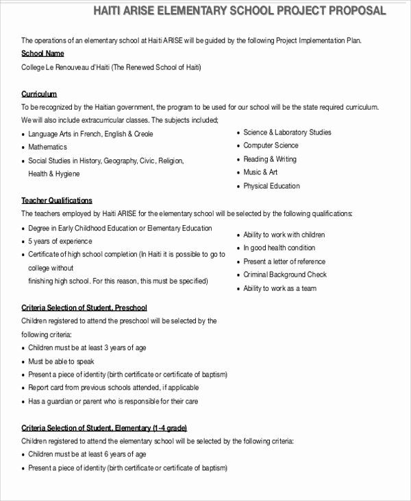 25 Project Proposal format for Student in 2020 (With ...