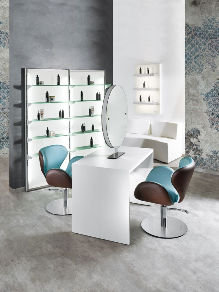 Round line salon ambience hairdressing furniture for Made in italy arredamenti bertinoro