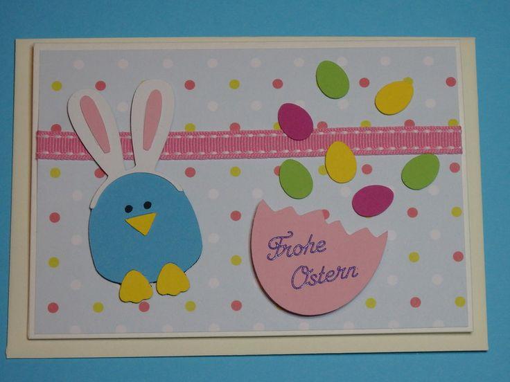 """Ostern - Osterkarte Grußkarte zu Ostern  """" Osterkonfetti """" - ein Designerstück von Wonderful-Paper-Art bei DaWanda"""
