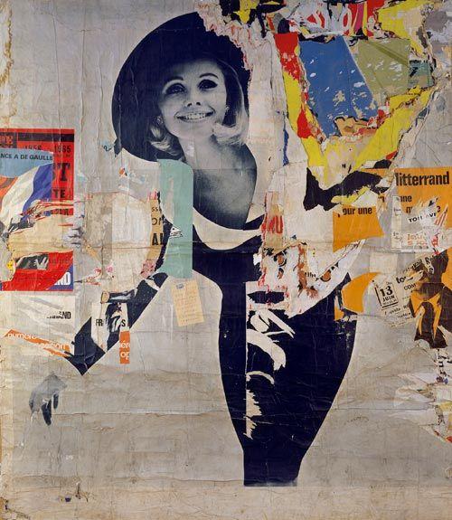 Jacques Villeglé, Rue des Desprez - Vercingétorix (La femme), 12.3.66, Decollage, 257 x 221 cm, Museum Ludwig 2002, with the support of a private patron - Nouveau Réalisme
