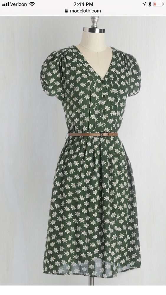 491d93446f5 Mod Cloth Sunny Girl Take Me To The Wind Dress Fern Pattern Size XL # ModCloth #AnyOccasion