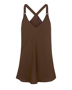 Khaki Buckle Strap Cami  | New Look