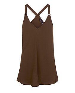 Khaki Buckle Strap Cami    New Look