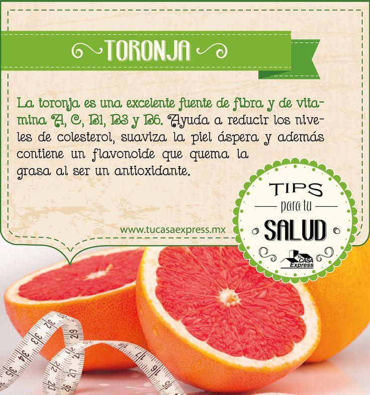 ¿Conoces todos los beneficios de la toronja? Agrégala a tu dieta diaria y lleva un vida más saludable.