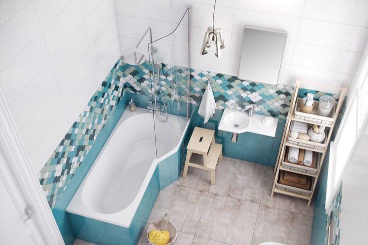 Wanna narożna BE SPOT  z parawanem nawannowym do małej łazienki http://www.excellent.com.pl/produkt/1568/wanna-narozna-be-spot-prawa