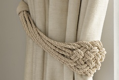 Plaited Rope Natural Curtain Tieback
