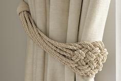 Plaited Rope Natural Curtain Tieback