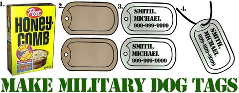 ITS SUPERHERO WEEK IN KIDSPREE! Today its all about the military.  Make these dog tags and talk about how you don't have to have a mask and a cape to be a superhero.