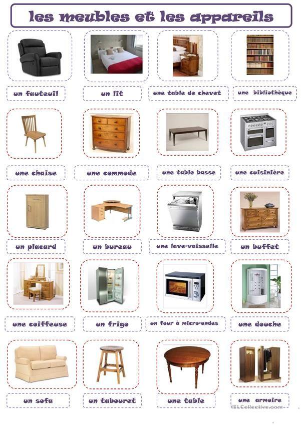 Meubles Mobilier De Salon Entretien Embauche Dictionnaire Visuel