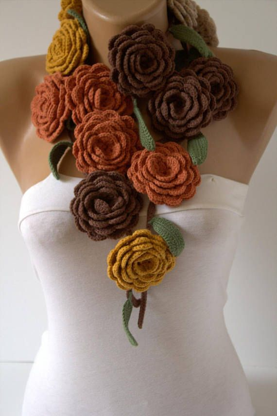 New Crochet flower necklaceflower necklaceflower lariat