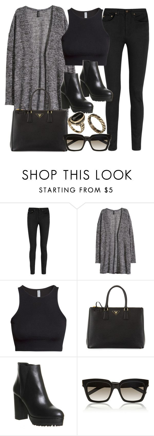 """Style #11037"" by vany-alvarado ❤ liked on Polyvore featuring Yves Saint Laurent, H&M, Prada, Office and ASOS"