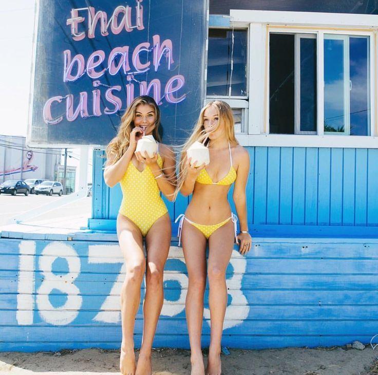 This photo makes me happy. Besties and bikinis. BYO yellow bikini.   www.bornwithit.com.au