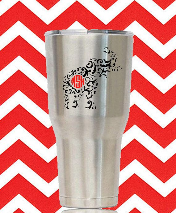 CUSTOMIZE YOUR CAR, LAPTOP, WATER BOTTLE, WINE GLASS, CELLPHONE, FRONT DOOR, CLIPBOARD, PLANNER, BINDER, FLASKS, HELMETS, AND MORE! DELTA SIGMA THETA MONOGRAM ELEPHANT When ordering place you initials in the comment box. Initials will be printed the same way you type them. I.e, if you send BJK, I will print BJK. If you send Brittany Johnson Khristin, I will print BJK. If you send Brittany Khristin Johnson, I will print BKJ. + All decals come with transfer tape and directions for…