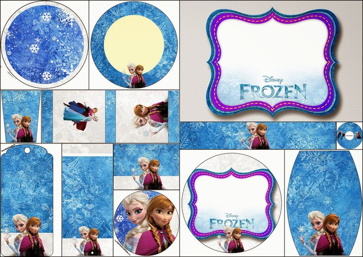 Frozen Birthday with Snow: Free Printable Candy Bar Labels.