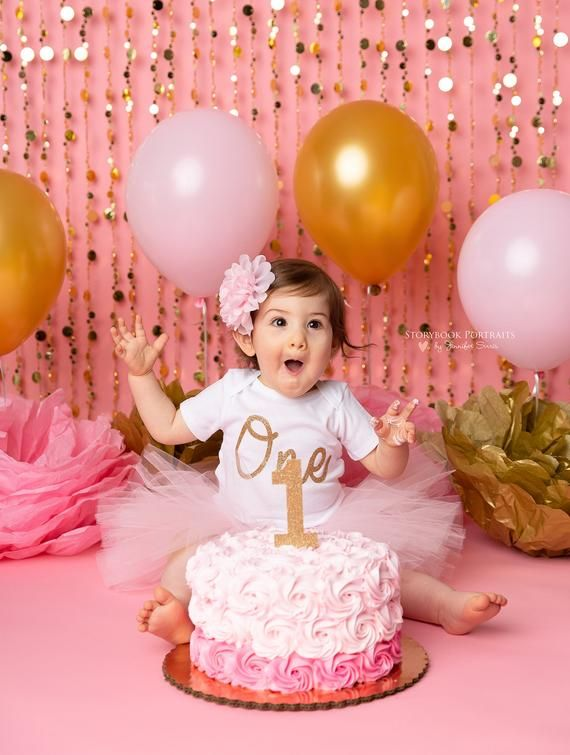 Pink And Gold First Birthday Outfit Girl Cake Smash Outfit Girl