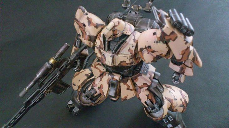 MODELER: 0828  MODEL TITLE:  N/A  MODIFICATION TYPE:  custom color scheme, camouflage  KITS USED: HGUC 1/144 Jagd Doga