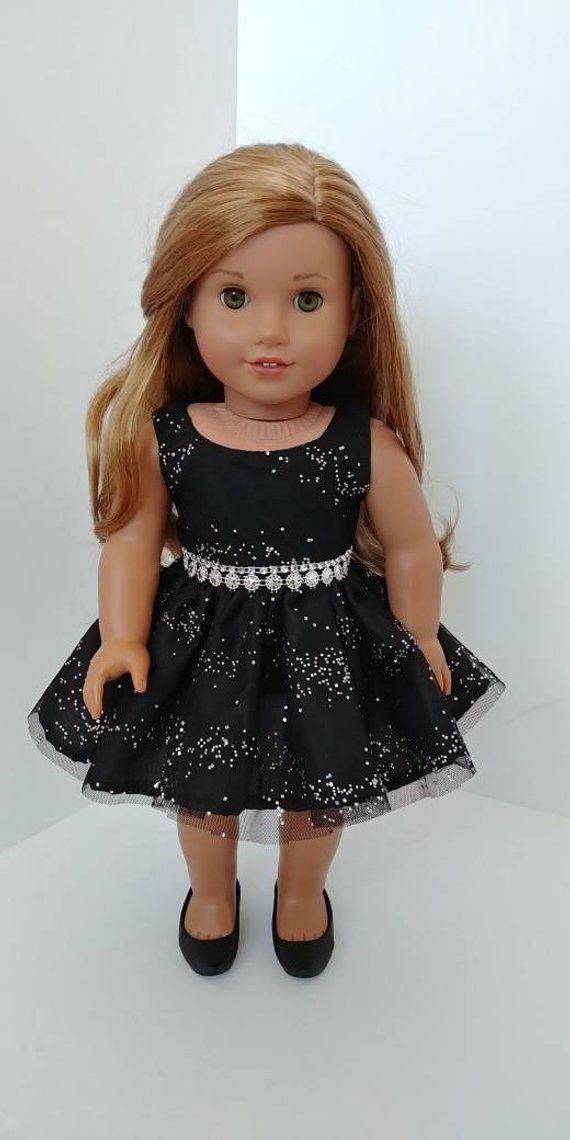 """Doll Clothes 18/"""" Shoes Black Sparkle Ballet Dress Fits American Girl Dolls"""