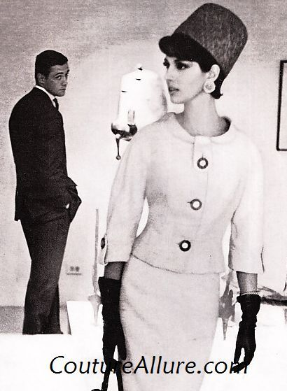 Miss Dior, 1961. In the early 60s, tall hats became all the rage