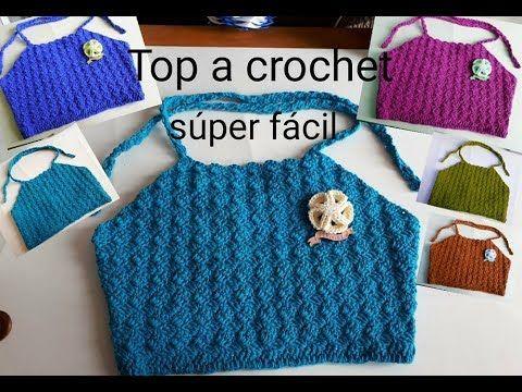 Como hacer Top crop a crochet o ganchillo paso a paso / crochet top crop easy and fast - YouTube
