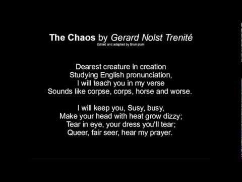 The Chaos (Of Pronunciation) G.N. Trenité - YouTube