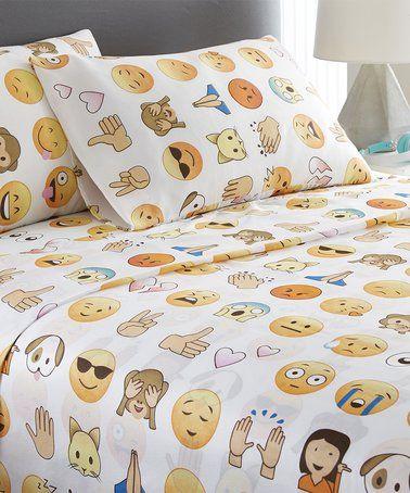 This Emoji People Sheet Set is perfect! #zulilyfinds