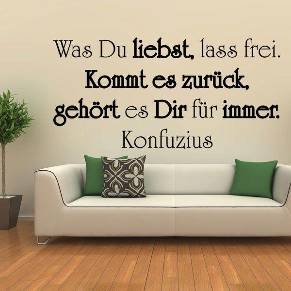 Beautiful Wandtattoo Spruch Zitat Konfuzius Liebe kommt Wandaufkleber