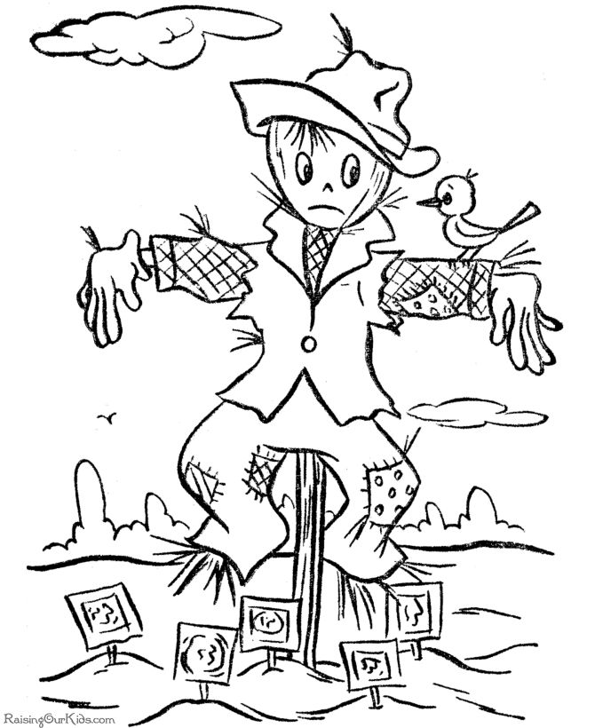 scarecrow coloring pages for kids page 2 godzilla coloring pages spacescarecrow coloring pages prints and colors