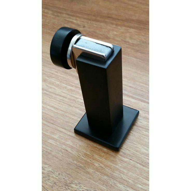 Magnetic door stop -  matte black finish