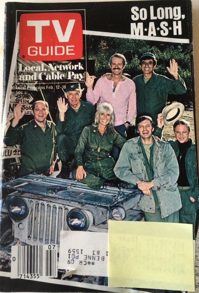 1983 TV GUIDE - So Long M*A*S*H  Alan Alda Vol 31 No. 7   | eBay