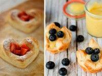 4 postres con hojaldre ¡rápidos y deliciosos!. Pastel de manzana, palmeritas...