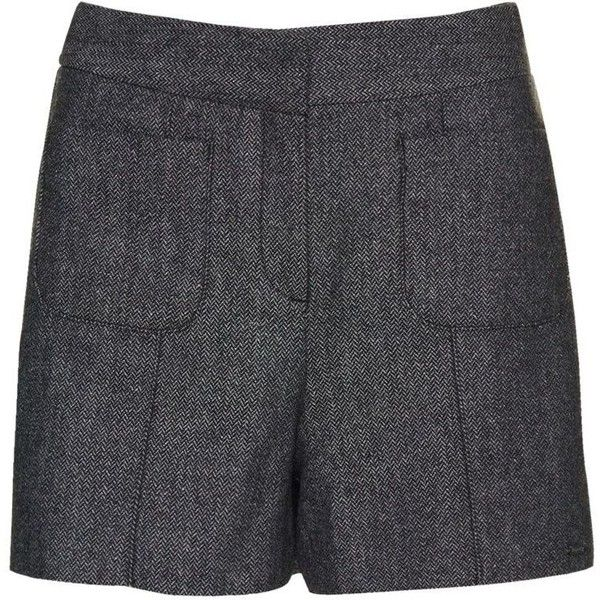 Superdry Tweed Nordic Short ($50) ❤ liked on Polyvore featuring shorts, grey, women, grey shorts, superdry, gray shorts, tweed shorts and superdry shorts