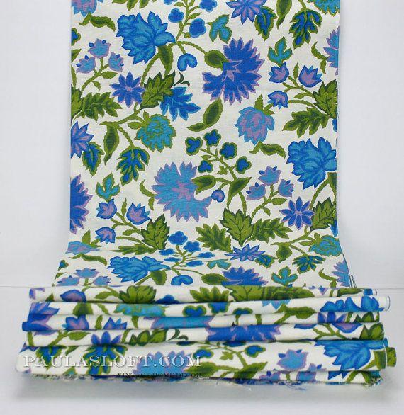 www.PaulasLoft.com Mid Century Drapery Fabric NOS 10 Yards Thistle by #PaulasLoft #MidCentury #Fabric #Yards #drapery #upholstery