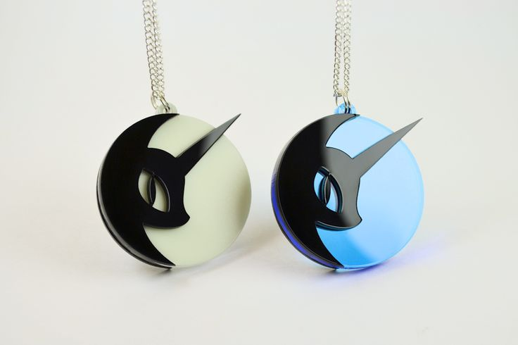 """My Little Pony Luna Cutie Mark Pendant Necklace When she's not busy being Nightmare Moon, The Wicked Mare of Darkness. Luna is just your average pony :) Our Luna Cutie Mark Pendant measures 1"""" Wide by"""
