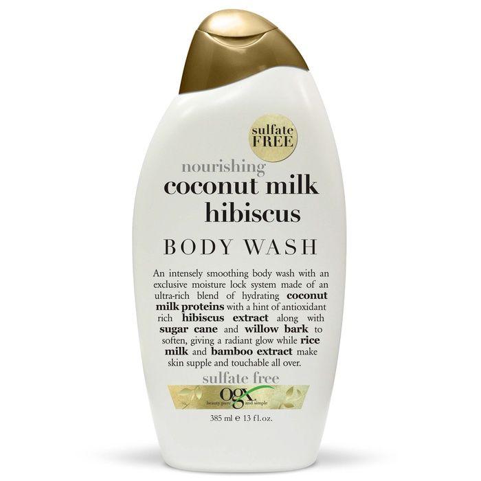 The Ten Best Moisturizing Body Washes//#10 OGX Nourishing Coconut Milk Hibiscus Creamy Body Wash #rankandstyle