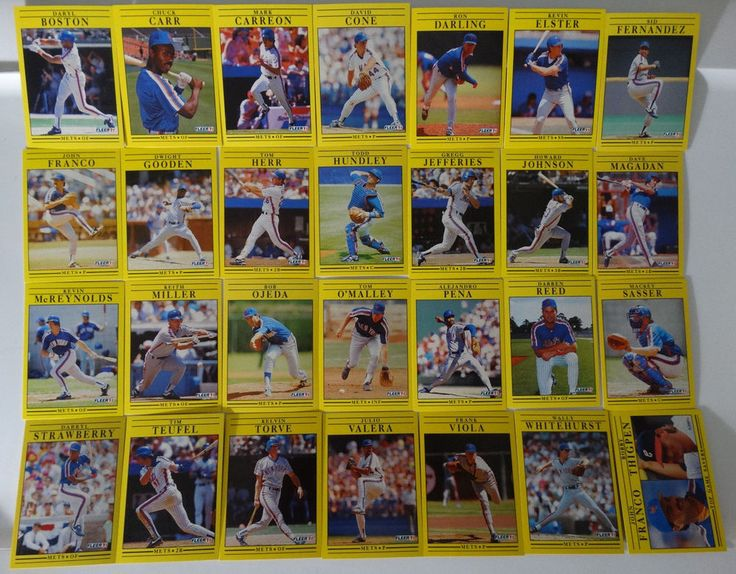 1991 Fleer New York Mets Team Set of 28 Baseball Cards #Fleer #NewYorkMets
